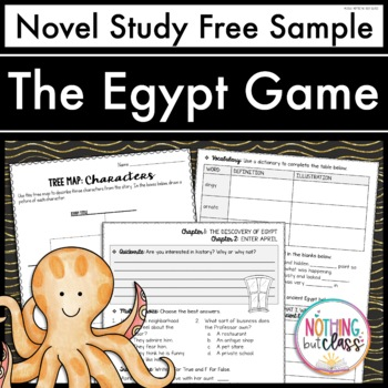 The Egypt Game Novel Study Unit: FREE Sample