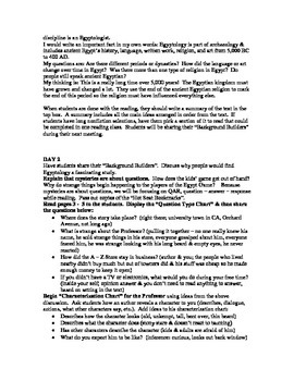 Egypt Game mystery guided reading plan
