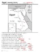 Egypt - Geography Introduction and Map Activity