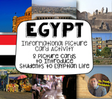 Egypt Informational Picture Card Activity: Communities of the World- Grades 3-5