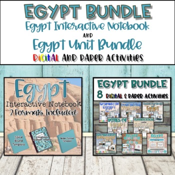 Egypt Interactive Notebook and Resource Bundle