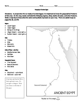 egypt map activity and expository writing by middle school marketplace. Black Bedroom Furniture Sets. Home Design Ideas