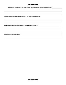 Egypt Map Activity and Expository Writing