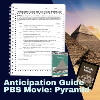 Egypt Movie: Pyramid Anticipation Guide