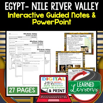 Egypt, Nile River Valley Civilization Guided Notes and PowerPoints, Google