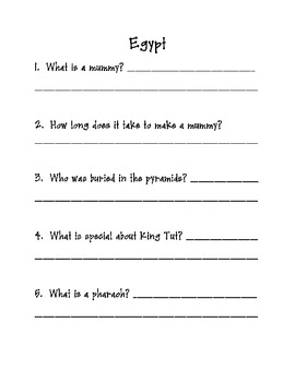 Egypt Play and Quiz