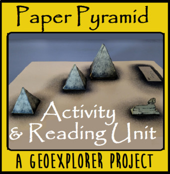 Egypt Pyramids of Giza Paper Project with Reading Passage for History