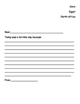 Egypt Topic accompanying worksheets - First Level