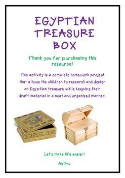 Egypt Stem Activity:Treasure Box Design and Make