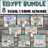 Egypt Unit Bundle {Digital AND Paper} Distance Learning