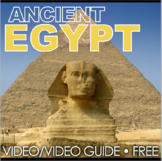Ancient Egypt Video Questions - Youtube Video Link Included! Free!