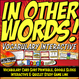 Egypt Vocabulary Card Sort & Google Interactive, Quizlet L