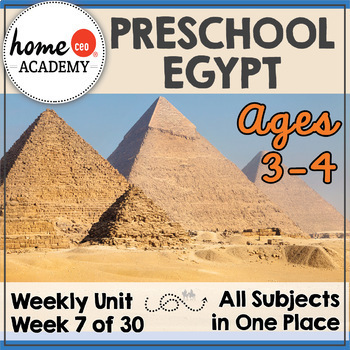 Egypt - Weekly Unit for Preschool, PreK, Preschool Homeschool