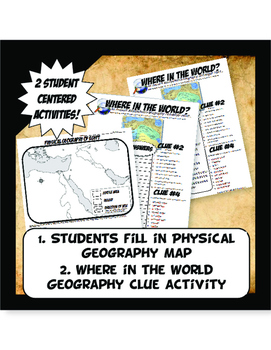Egypt Where in the World Scavanger Hunt & Map Activity Physical Geography