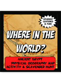 Egypt Where in the World Scavanger Hunt & Map Activity Phy