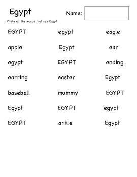 Egypt Word Find