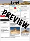 Egypt Worksheet
