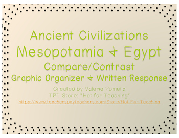 Egypt and Mesopotamia Compare and Contrast Graphic Organizer