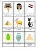 Egypt themed 3 Part Matching Game.  Printable Preschool Game