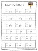 Egypt themed A-Z Tracing Worksheets.Printable Preschool Handwriting