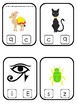 Egypt themed Beginning Sounds Clip It Game.Printable Preschool Game