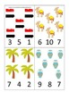 Egypt themed Count and Clip preschool math cards.  Daycare child care math.