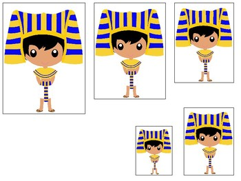 Egypt themed Size Sequence. Printable Preschool Game