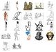 Egypt themed image collection. Over 100 Egyptian themed royalty free images