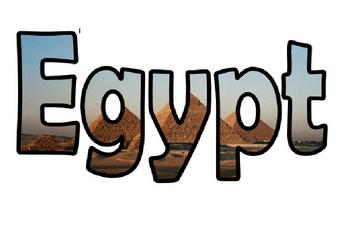 Egypt topic display lettering