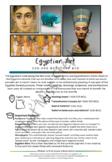 Egyptian Art Activity: Art History info Sheet, Practice Wo