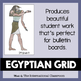 Egyptian Art Wall Painting Grid Lesson Plan, PowerPoint, Handout & Rubric