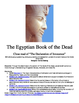 Egyptian Book of the Dead Lesson and Handouts