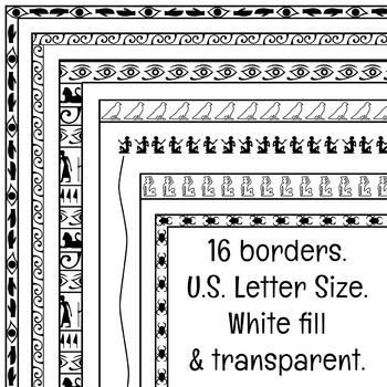 Egyptian Borders Clip Art