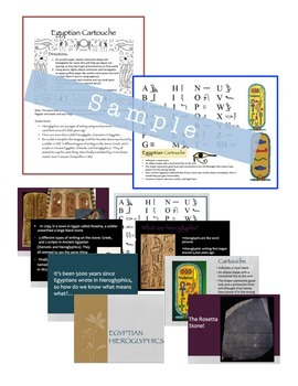 Egyptian Cartouche Art, Egypt History Lesson, Sub Lesson
