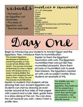 Egyptian Cats Lesson Plan