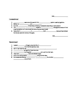 Egyptian Chapter Guided Notes