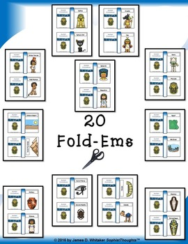 Egyptian Civilization Interactive Mini Research Fold-Ems and Activities