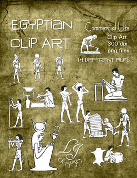 Egyptian Clip Art - Commercial Clip Art for Classroom Creations