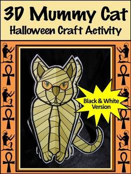 Egyptian Craft Activities: 3D Egyptian Mummy Cat Halloween Craft Activity Packet