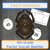 Egyptian Factor Scarab Beetles (Factor Bugs) for 4th Grade Classes