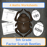 Egyptian Factor Scarab Beetles (Factor Bugs) for 5th Grade Classes