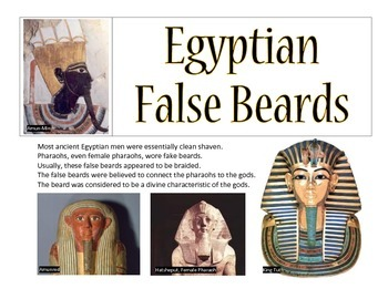 Egyptian False Beard Activity