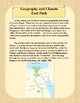 Geography and Climate in Ancient Egypt Reading and Activity Packet