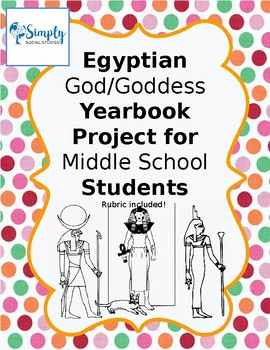 Egyptian God/Goddess Yearbook Project