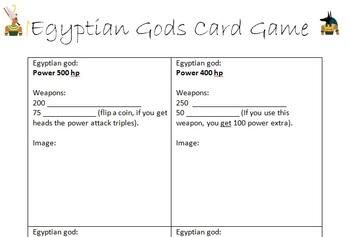 Egyptian Gods Card Game