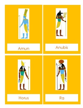 Egyptian Gods & Goddesses Info cards with Pictures