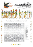 Egyptian Gods Word Search