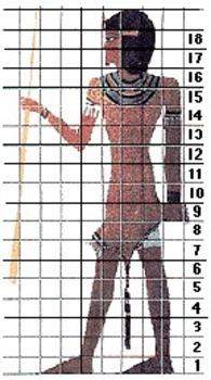 Egyptian Grid Art Project
