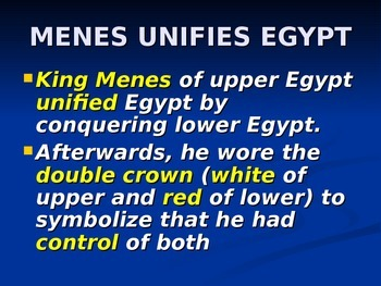 Egyptian Guided Notes PowerPoint