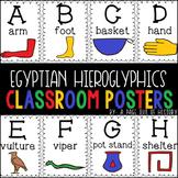 Ancient Egyptian Hieroglyphics Alphabet Posters